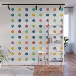 Circular Dalmatian Spots - Rainbow #736 Wall Mural