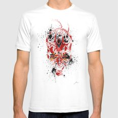 Red Rage White MEDIUM Mens Fitted Tee