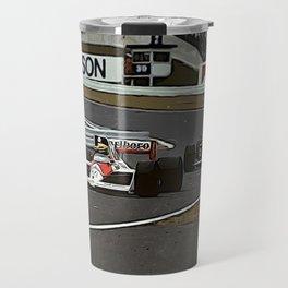 Ayrton Senna Formula 1 Battle Travel Mug