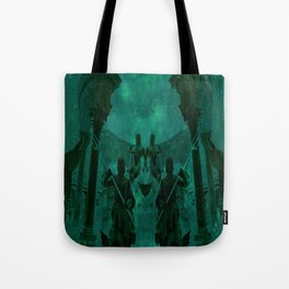 Fight Among the Gods Tote Bag