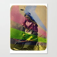native american Canvas Prints featuring Native American by Owen Addicott