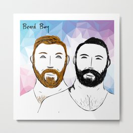 Beard Boy: Buttons and Snaps Metal Print