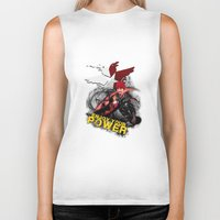 """infamous Biker Tanks featuring InFamous Second Son - """"ENJOY YOUR POWER"""" by Emme Gray"""