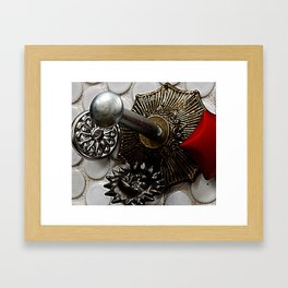 carriage of mountain snow Framed Art Print