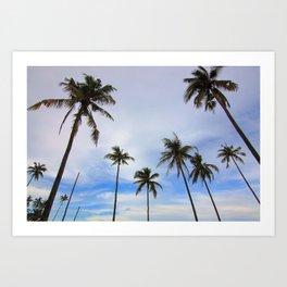 Tropical Palm Tree Landscape Art Print