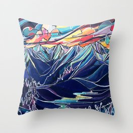 Silvercup Ridge, BC Throw Pillow