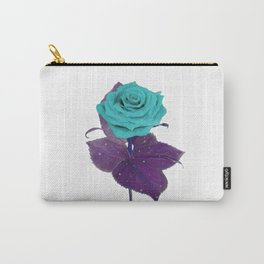 Single Standing Rose (Blue) Carry-All Pouch
