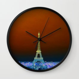 Eiffel Tower in the morning Wall Clock