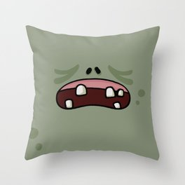 Zoombies Vs Masks Throw Pillow