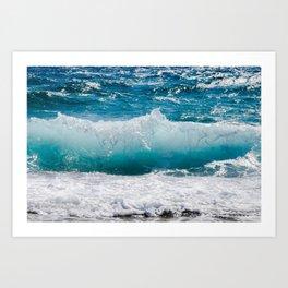 Wave   Vague Art Print