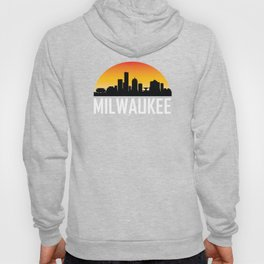Sunset Skyline of Milwaukee WI Hoody