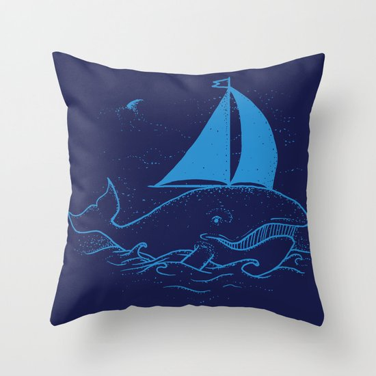 Whaleboat Throw Pillow