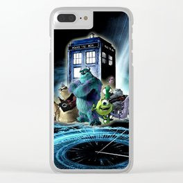 Tardis of monster inc Clear iPhone Case