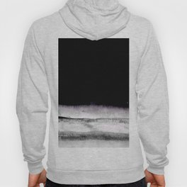 black and gray abstract landscape painting Hoody