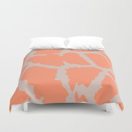 Giraffe pattern grey and pink Duvet Cover