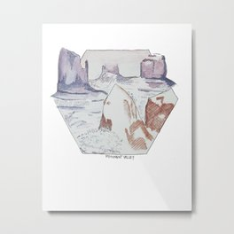 Winter in Monument Valley Metal Print