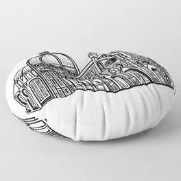 Florence Duomo Drawing Floor Pillow
