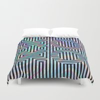 xoxo Duvet Covers featuring xoxo by Marta Olga Klara