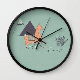 Sleep Walking Llama Wall Clock