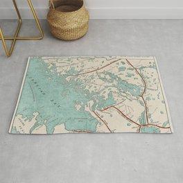Vintage Map of Georgian Bay Rug