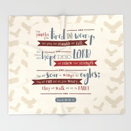 """""""Hope in the Lord"""" Hand-Lettered Bible Verse Throw Blanket"""