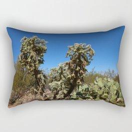 Jumping Cholla Cactus Rectangular Pillow