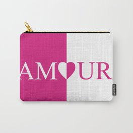 Amour Pink Design Carry-All Pouch