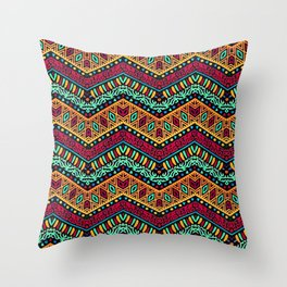 African Style No1 Throw Pillow