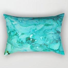 Abstract Aqua Rectangular Pillow