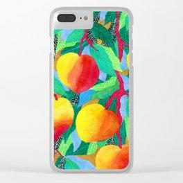 summer peaches Clear iPhone Case