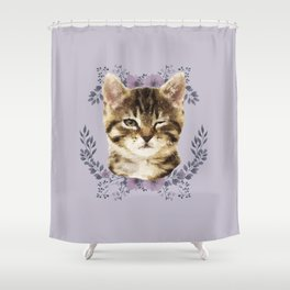 Cat Wink Shower Curtain