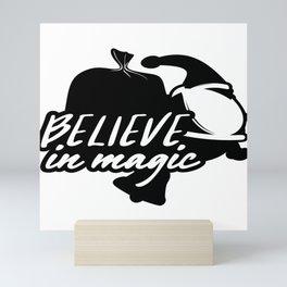 Believe in Magic Christmas Santa Mini Art Print