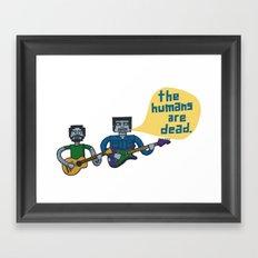 Conchords Robots Framed Art Print