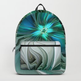 Abstract With Blue, Fractal Art Backpack