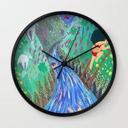 River vacation Wall Clock