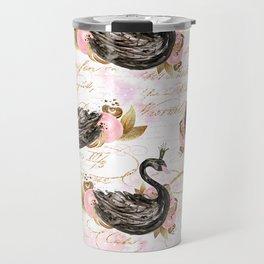 Black Swan Pattern 05 Travel Mug