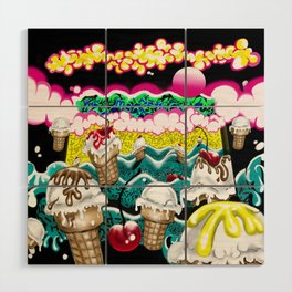 Ice Cream Dream3 Wood Wall Art