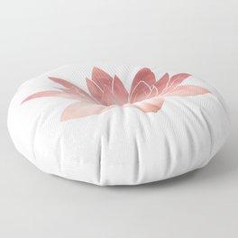 Pink Lotus Flower | Watercolor Texture Floor Pillow