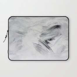 Chill Black & White Marble Abstract Paint Laptop Sleeve
