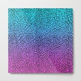 Blue/Pink Elephant Skin Metal Print