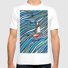 Wind Over Water White Mens Fitted Tee MEDIUM