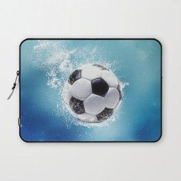 Soccer Water Splash Laptop Sleeve