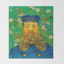 Vincent van Gogh - Portrait of Postman Throw Blanket