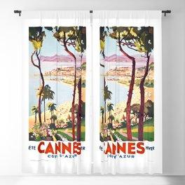1938 France Cannes Cote D'Azur Travel Poster Blackout Curtain