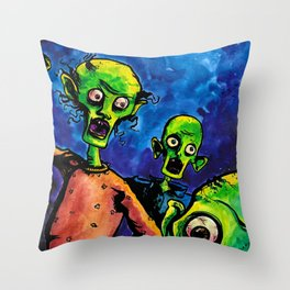 Zombies! Throw Pillow