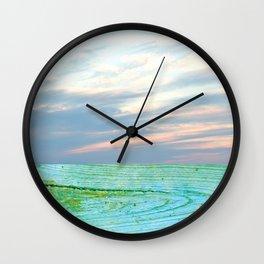 seascape 004: woodlands Wall Clock