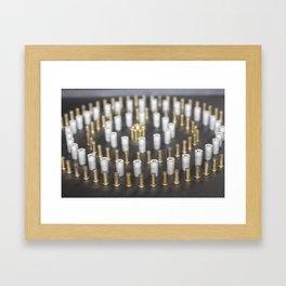 Brass Circle Framed Art Print