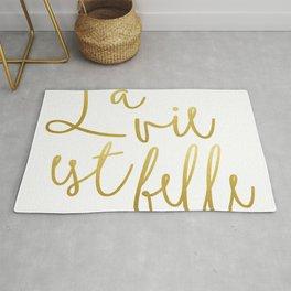 La vie est belle #society6 #typography #buyart Rug