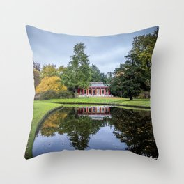 Surrounded by Autumn Throw Pillow