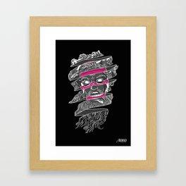 No god in my history Framed Art Print